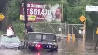 Download New Jersey officer saves bride stranded in floodwater Video