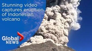 Download Stunning video captures eruption of Indonesian volcano Video