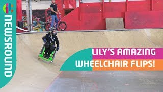 Download Amazing Wheelchair Backflip | Lily Rice | Newsround Video