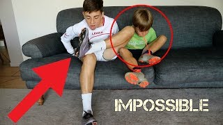 Download TRYING TO TAKE OFF FOOTBALL BOOTS AND SOCKS WITHOUT HANDS (FORFEIT) Video