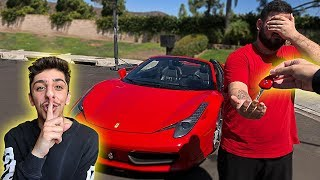 Download I stole his car.. then surprised him with his DREAM SUPER CAR!! Video