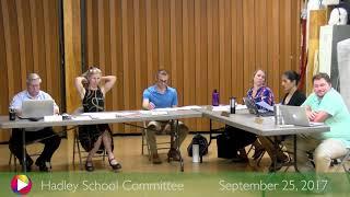 Download School Committee September 25, 2017 Video
