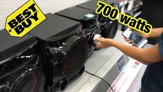 Download LOUD SUBWOOFER PRANK AT BEST BUY (700 watts) lg cm4550 Video