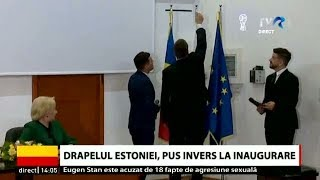 Download Drapelul Estoniei, pus invers la inaugurarea Consulatului Onorific al Estoniei din Constanța Video