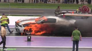 Download Nitrous Mustang Goes Up in Flames at TX2K16! Video