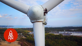 Download Climbing Wind Turbines for a Living | That's Amazing Video