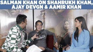 Download Salman Khan on Shahrukh Khan,Ajay Devgn & Aamir Khan! #Bharat Video