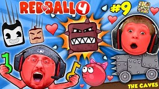 Download RED BALL 4: INTO THE CAVES GIRLFRIEND FALLS! FGTEEV #9 w/ Chase Dad Mom Shawn (Volume 5 Level 61-69) Video