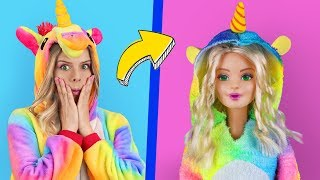 Download 6 Clever Barbie Hacks And LOL Surprise Hacks / Troom Troom Characters As Dolls Video