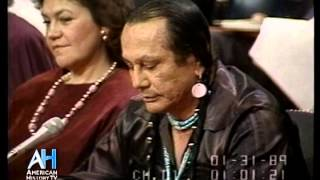 Download 1989 - American Indian Activist Russell Means testifies at Senate Hearing Video