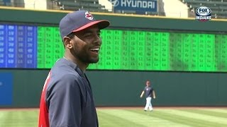 Download LAA@CLE: Kyrie Irving takes BP, throws first pitch Video