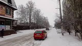 Download поворот на поліклініку, Ощадбанк в Бородянке на Крещение 19.01.2018г. пошел снег Video