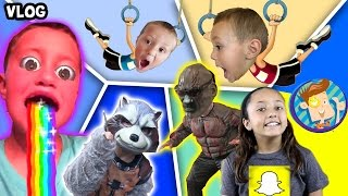 Download Guardians of the Galaxy Scare Cam / Chase's Twin / Snapchat Rainbow Mouth More (FUNnel Vision Vlog) Video