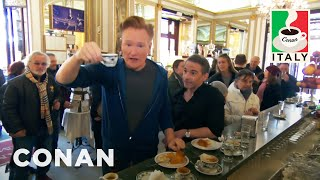 Download Jordan Schlansky Lectures Conan About Coffee In Naples - CONAN on TBS Video