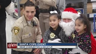 Download Santa flies to Walmart in police helicopter for Santa Cops event Video