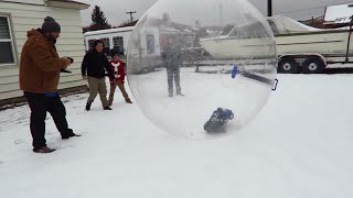 Download RC Truck in ACTION! Traxxas Slash 4x4 Drifting in Snow and Giant Bubble Ball! Video