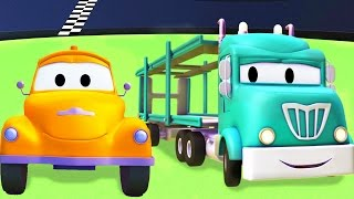 Download Tom The Tow Truck with the Car Carrier and their friends in Car City | Trucks cartoon for kids Video