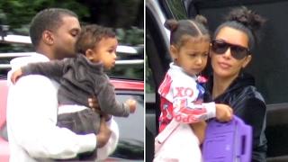 Download Kim Kardashian And Kanye West Take Saint And Nori To Pre- Super Bowl Party Video