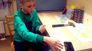 Download Idiot Kid Breaks Phone Like An Idiot | What's Trending Now Video