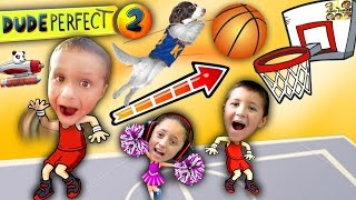 Download Kids Make Impossible Basketball Shot! DUDE PERFECT 2! (FGTEEV Gameplay / Skit) Video