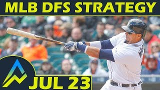 Download MLB DFS Strategy | Monday 7/23 | FanDuel & DraftKings | Awesemo Video