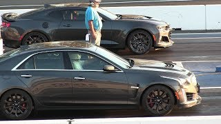 Download New 2017 ZL1 vs 2017 CTS-V Cadillac - drag race Video