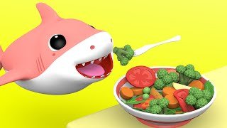 Download Yes Yes Vegetables Song | +More Nursery Rhymes & Kids Songs with Baby Shark Family Video