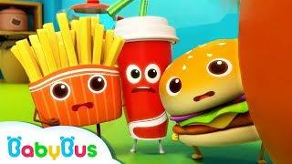 Download Hamburger and His Friends | Food Song | Nursery Rhymes | Kids Songs | Kids Cartoon | BabyBus Video