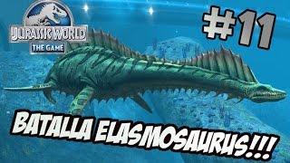 Download BATALLA EPICA PARA CONSEGUIR AL ELASMOSAURUS - Jurassic World The Game #11 Video