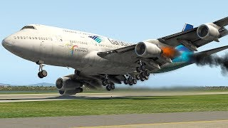 Download Boeing 747 Bird Strike Emergency Landing (HD) | X-Plane 11 Video