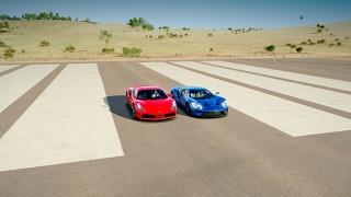 Download 2017 Ford GT vs Ferrari 488 GTB - DRAG RACE! | Forza Horizon 3 Video