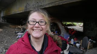 Download Living under a bridge doesn't stop this homeless woman from staying positive. Video