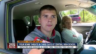 Download Fourth bomb threat in three days at Central High School in Hernando County Video