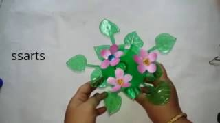 Download Best out of the waste / Plastic bottle flowers show piece / Recycled bottle gift ideas Video