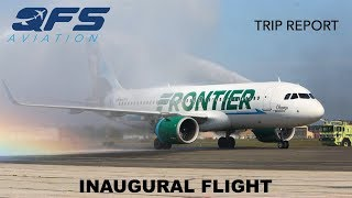 Download INAUGURAL FLIGHT | Frontier Airlines - A320neo - Orlando (MCO) to Islip (ISP) | Economy Video