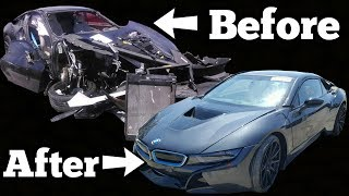 Download Auction BMW i8 Has the Most INSANE Coverup Job EVER! Rich Rebuilds ALMOST BOUGHT IT! Video
