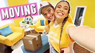 Download MOVING FURNITURE INTO THE NEW HOUSE!🏠📦 Moving vlogs Video