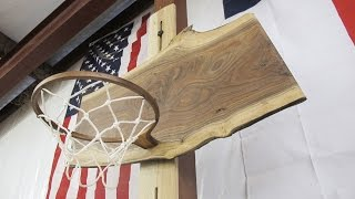 Download Making A Walnut Basketball Hoop For The Shop Video