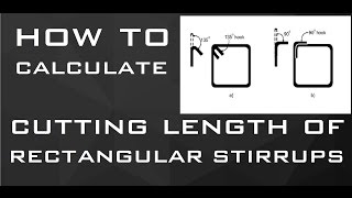 Download How To Calculate Cutting Length of RECTANGULAR Stirrups | Learning Technology Video