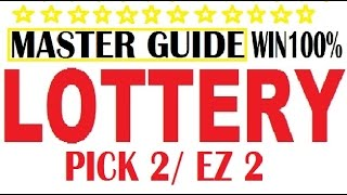 Download How to win the Lottery - EZ 2 / PICK 2 Lotto (Master Guide) 100% Winning Video