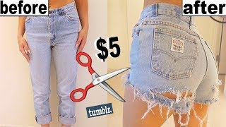 Download HOW TO MAKE OLD JEANS INTO SHORTS! Video