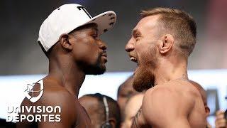 Download McGregor vivió su primera ceremonia de pesaje como boxeador para enfrentar a Mayweather Video