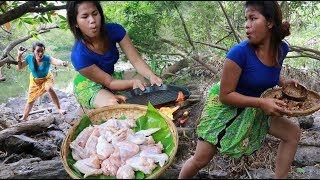 Download Survival Skills food / Yummy Cooking Chicken wing Eating Delicious Video