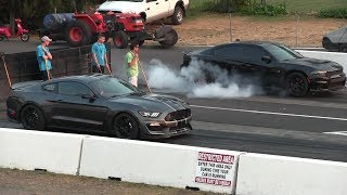 Download Shelby GT350 vs Hellcat Charger 1/4 mile drag race Video
