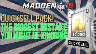 Download Madden 18 Ultimate Team :: The Biggest Mistake Most Mut Players Might Be Ignoring! QUICKSELL PACK! Video