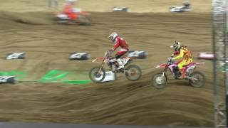 Download Jeffrey Herlings fights his way through the pack to pass Dungey for the win in the SMX Cup Video