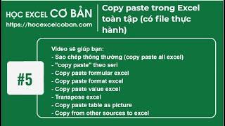Download Học Excel cơ bản | #5 Sao chép cắt dán, copy paste Excel Video