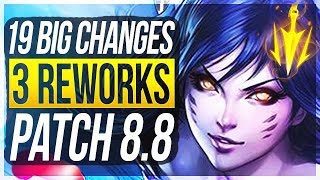 Download 3 REWORKS & LETHAL BUFFS?! 19 BIG CHANGES & NEW OP CHAMPS Patch 8.8 - League of Legends Video