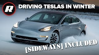 Download EXCLUSIVE: Winter driving all Tesla cars in Alaskan snow | Sideways Included Video