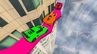 Download CROSS THE DEADLY BUILDING LEDGE! (GTA 5 Funny Moments) Video